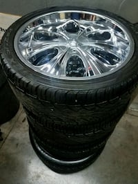 rims wheels tires 23 inch chrome