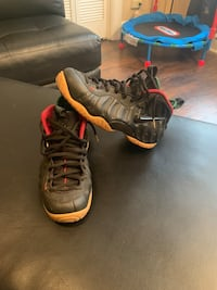 pair of brown Nike Foamposite Pro shoes St. Louis, 63108