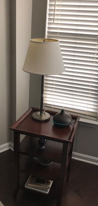Pottery Barn library table & light Reston, 20190