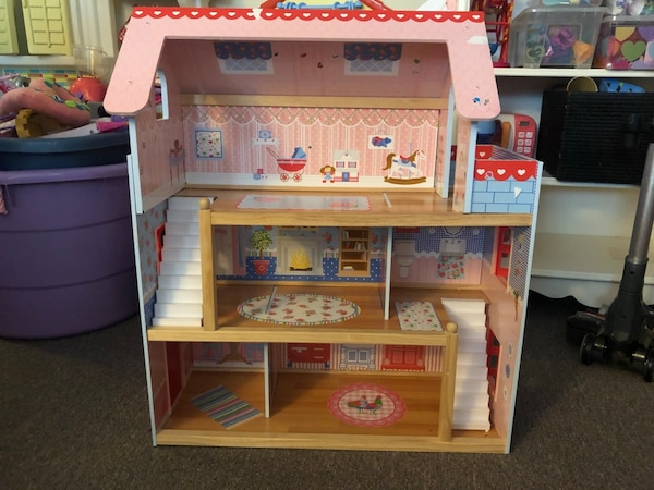 Used Wooden Doll House With Wooden Furniture For Sale In Baltimore