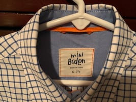 Mini Boden boys dress shirt size 6-7