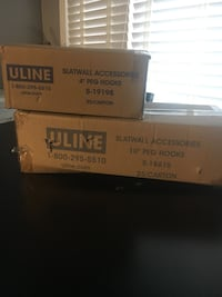two Uline slatwall accessories boxes