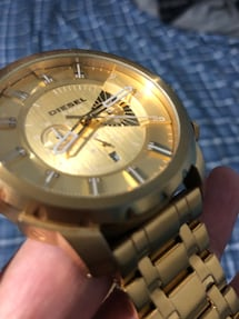 Gold Diesel Watch