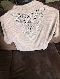 Small Tan Laced Back Top Nashville, 37214