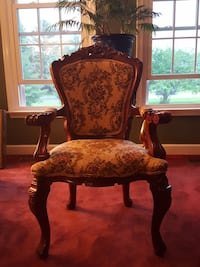 Carved Rocaille solid mahogany antique replica cha Walkersville, 21793