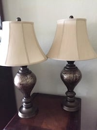 Two brown-and-white table lamps Orlando, 32821