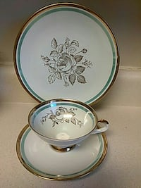 Vintage Gold Trim Cup, Saucer & Lunch Plate Bavaria Tulare, 93274