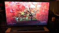 "55"" Black flat screen tv with remote Milliken, 80543"