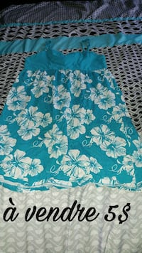 teal and white spaghetti strap floral dress Québec, J2A 1A5