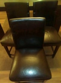 Brown Leather Chairs/Stools  Lewiston