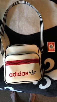 women's red and white Adidas shoulder bag