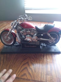 black and red cruiser motorcycle scale model Medicine Hat, T1A 7M1
