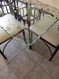 Glass Top Dining Room Set with 6 chairs ELPASO