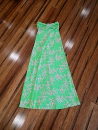 Lilly Pulitzer strapless maxi dress size XS