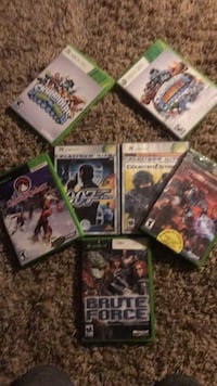 six Xbox 360 game cases Washington, 20024