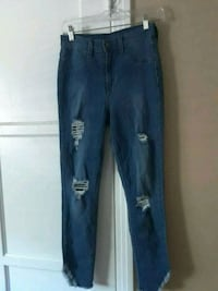 distressed blue denim jeans National City, 91950