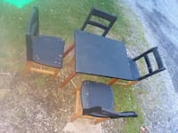 black and brown wooden table with chairs Beaver Falls, 15010