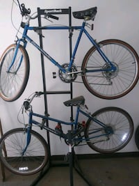 Vintage Huffy bicycles with storage rack and car carrier