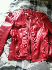 red leather zip-up jacket Taylor, 48180