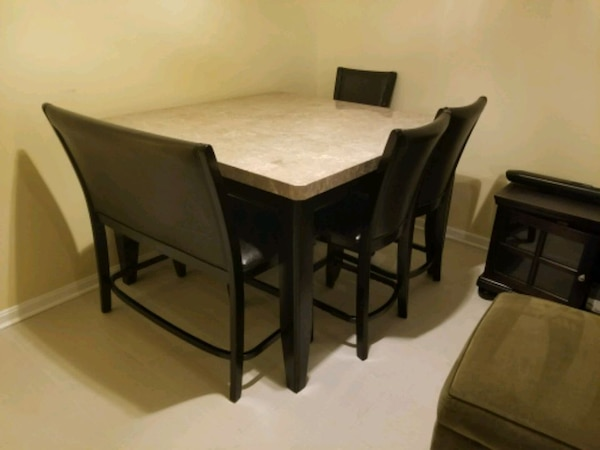 Marble Table and Table Top Chairs 06983e52-8f82-4d65-8707-17943285b36f