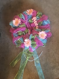 pink, blue, and green floral mesh wreath! Knoxville, 37921