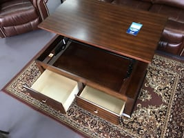 Lift Top rolling coffee table