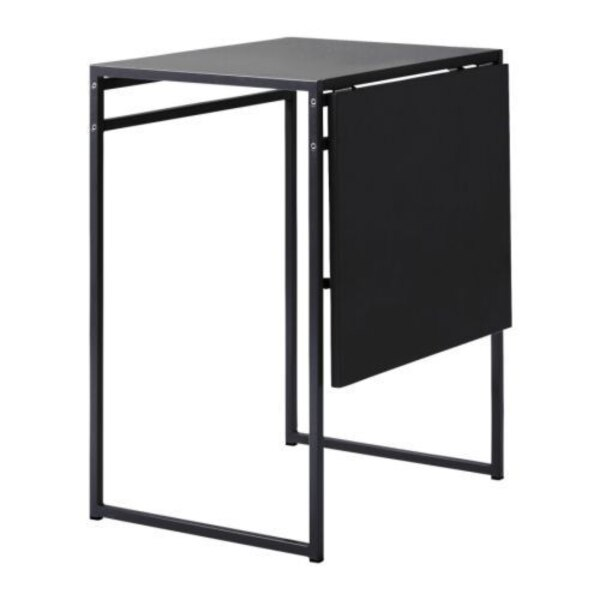 Used Ikea Muddus Drop Leaf Table Black For In
