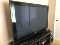 """Panasonic 58"""" plasma hdtv (58 TH-PZ750u)... we will also give you the tv console Irvine, 92604"""