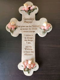 Serenity Prayer Cross Stone Plaque Decor Herndon, 20171