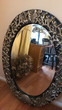Stunning oval mirror, black with brushed nick Silver Spring, 20905