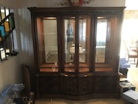 Lighted Display Cabinet with curved glass