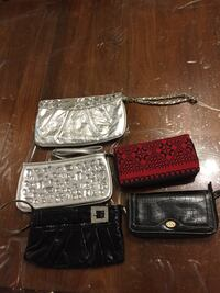 Wallets in excellent condition silver are free Black and red 5$ each