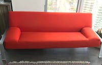 Sofa-bed orange/red