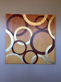 brown, white, and blue abstract painting Surrey, V3S 4S6