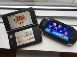 Nintendo 3DS, games + PS Vita