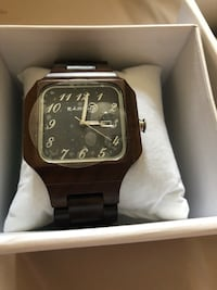 Brand new earth wood watch