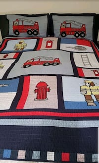 Boy's cotton cover blanket with two shams