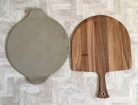 Lg round stone and board Great Falls, 59405