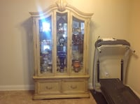 brown wooden framed glass display cabinet Strawberry Plains, 37871