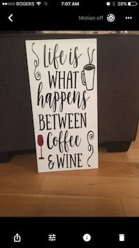Life is what happens between coffee & wine poster screenshot