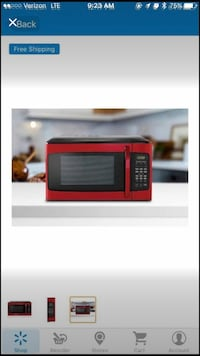 Red and black microwave oven screenshot