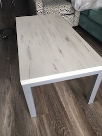 rectangular white wooden coffee table 542 km