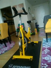 Johnny G Yellow and Black Spinning Bike