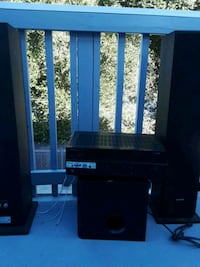 black and gray home theater system San Luis Obispo, 93401