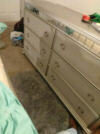 white wooden 6-drawer dresser and nightstand Dover, 19904