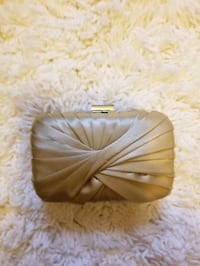 "Gold ""satin"" evening purse Brooklyn"