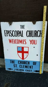 Vintage Episcopal Church Sign