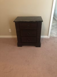 black wooden 3-drawer chest Indian Head, 20640