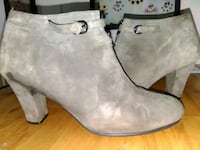 Ladies Olive Suede Low Boots Liverpool, 13090
