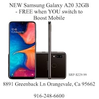 New Samsung Galaxy A20 32GB - Boost Mobile